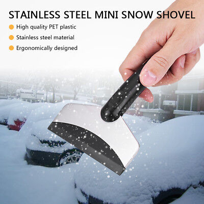 Car Window Cleaning Snow Removal Scraper Windshield Ice Shovel Tool Stainless
