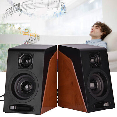 USB 2.0 Multimedia Speaker HIFI Box Computer Stereo Audio Subwoofer for PC AM