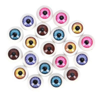5 Pair Plastic Half Round For Halloween Mask Doll Eyes Fake Mask Eyeballs Gifts^