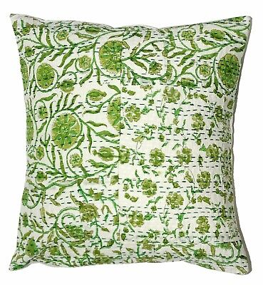 Handmade Floral Cushion Cover Indian Decorative Square Shape Shame Cover 10 Pcs