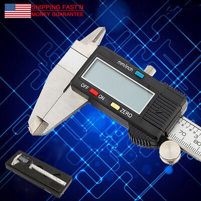 0-300mm 12''Stainless Digital Caliper LCD Screen Steel Vernier Guage Micrometer