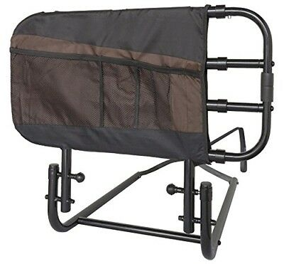 Stander EZ Adjust and Pivoting Adult Home Bed Rail/Swing Down Assist Handle with