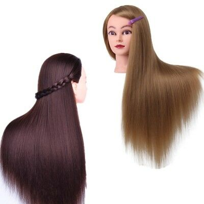Hair Salon Hairdressing Practice Training Head Model Makeup Mannequin Doll Clamp