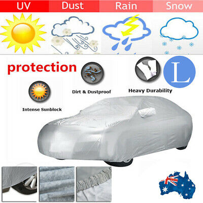 L Large Universal Full-size Car Cover Water Resistant UV Protection VT Commodore