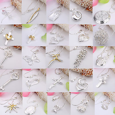 925 Solid Sterling Silver Jewelry Pendant Necklace Chain Jewellery Xmas gift