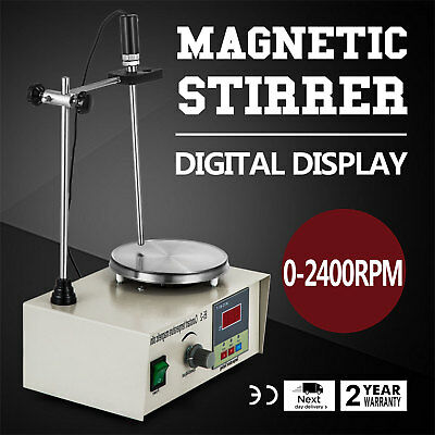 85-2 Magnetic Stirrer With Heating Plate Digital 250W Stir Bar Plate Mixer