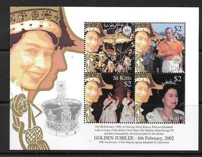 St.kitts Sg685A 2002 Golden Jubilee  Mnh