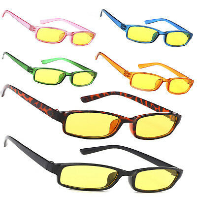 Men Women Night Day Vision Driving Slim Glasses Bad Weather Yellow  Sunglasses c62dcf6fe5