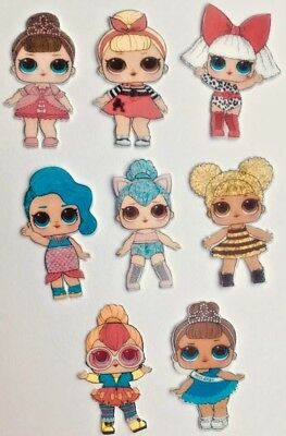 15 PRE CUT LOL Surprise Doll Dolls Edible Wafer Cupcake Toppers