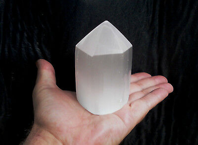 Selenite Polish Points 10cm High with Info booklet (new)