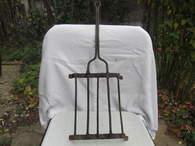 Antique Very Rare Old 18 Century Hand Forged Wrought Iron Grill For Fireplace