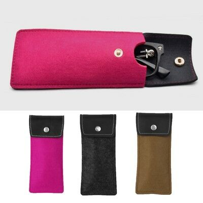 Soft Glasses Bag Faux Leather Brief Pouch Sleeves Sunglasses Lens Case Protector