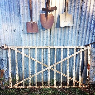 Antique Large Heavy Iron Railway Gate A