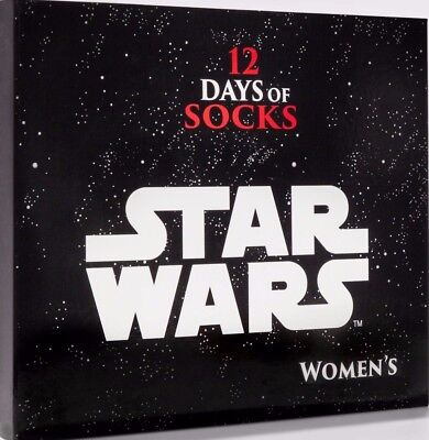 FREE PRIORITY! Womens Star Wars 12 Days of Socks Set Collection Advent Calendar