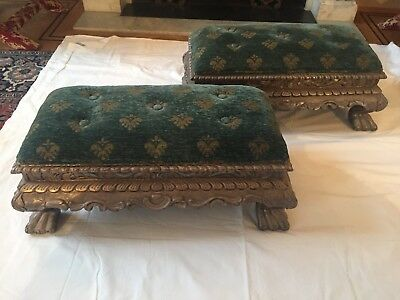 Antique Pair Of Footstools