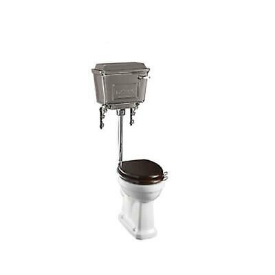 Burlington Low Level Toilet, Traditional Pan & Chrome Cistern inc Flushpipe Kit