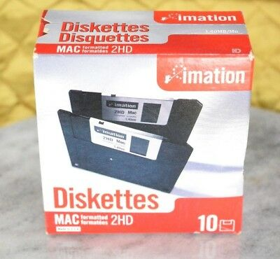 "Imation MAC Formatted 2 HD 1.4 MB 3.5"" Diskettes New Unopened Box"