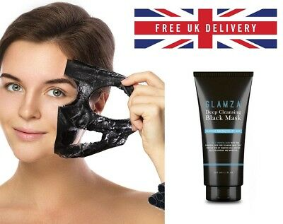 50g GLAMZA Charcoal Blackhead Remover Peel Off Facial Mask Cleaning Black Face