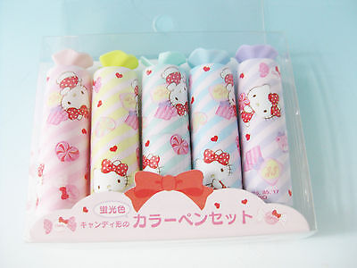 HELLO KITTY Color Pen Set Candy Marker SANRIO Japan Limited Gentei Kawaii