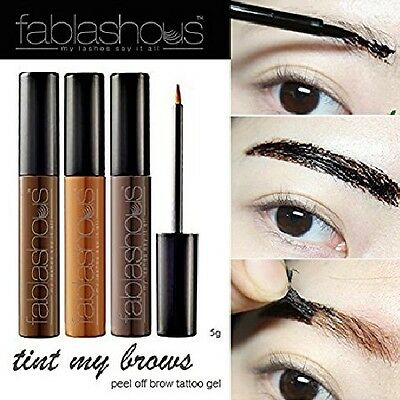 FABLASHOUS Tint My Brows Peel Off Gel Eyebrow Tattoo Tinting Korea Cosmetics