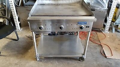 """Imperial 36"""" Commercial Gas H/d 1"""" Itg-36 U2624 Griddle Thermostatic Flat Grill"""