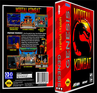 Mortal Kombat - Sega Genesis Reproduction Art Case/Box No Game.