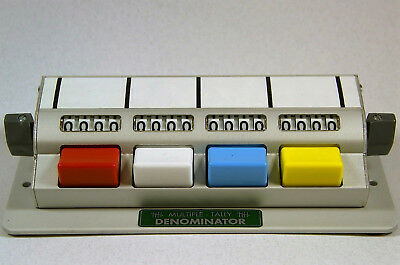 Denominator Company, Multiple Tally Counter, MT1X4, Mechanical Counter, Traffic