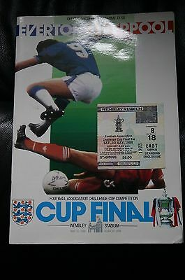 Everton v Liverpool 1986 FA Cup Final Programme + Ticket Stub