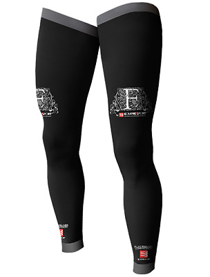 Compressport veino-muscular calf and forquad compression, Full Leg, new, black.