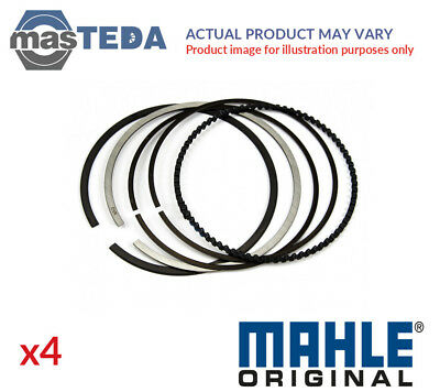 4x NEW ENGINE PISTON RING SET MAHLE ORIGINAL 008 65 N0 I OE REPLACEMENT