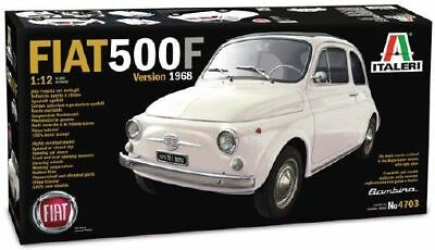 Fiat 500F 1968 Plastic Kit 1:12 Model 4703 ITALERI