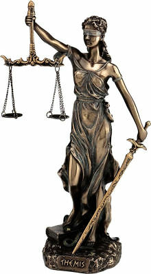 Themis: Greek Goddess Statue Figurine /Blind Lady Justice Sculpture Lawyer Gift