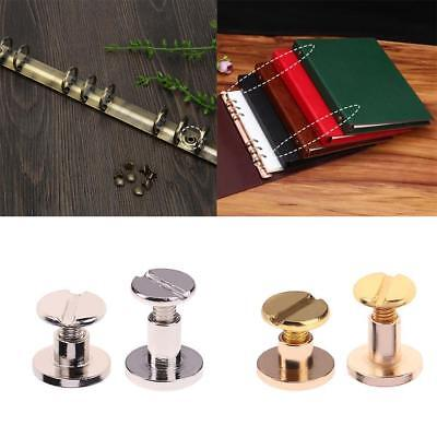 20pcs Solid Brass Leather Belt Wallet Album Chicago Craft Screw Nail Stud Rivet