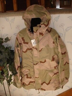 New Military Us Army Ecwcs Cold Wet Weather Desert Camo Mens Parka Large Long