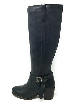Frye Womens Malorie Knotted Tall Riding Boot Black Vintage Leather Size 7.5 M