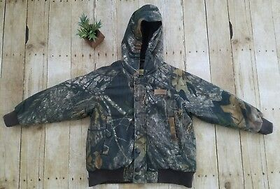 4d40d054859e5 Cabelas Boys Camo Hunting Jacket Sz Small Mossy Oak Print Thick Warm Quilted