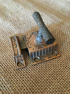 Antique Brass Cabinet turn Latch with keeper