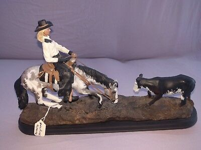 Model Resin Cutting Horse painted by Sheryl Clayton
