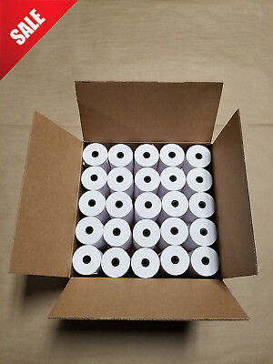 "50 Rolls 3"" x 165' 1-Ply Bond Receipt Paper POS Cash Register"