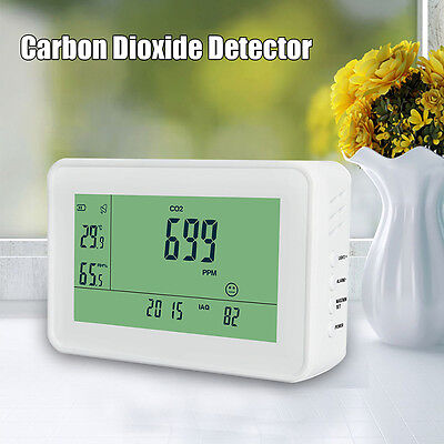 Carbon Dioxide Detector CO2 Monitor Temperature Humidity Meter Durable For Home