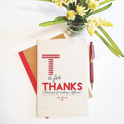 Thanks Teacher Personalised Teacher Notebook With Reusable Cover Gift