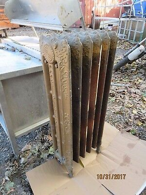 Antique Ornate 1920's Victorian Cast Iron Steam Radiator Register Salvage clean