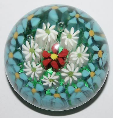 Paperweights MURANO Millefiori Floral Hand Blown Art Glass Lot of 5 Vintage
