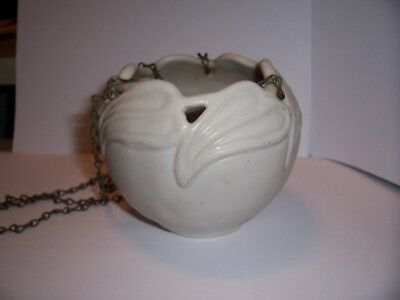 Van Briggle Art Pottery Philodendron Hanging Bowl With Chain