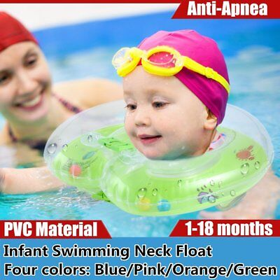 1-18months Baby Infant Swimming Neck Float Inflatable Tube Ring Safety Neck AU