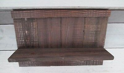 Reclaimed Rustic Country Primitive Shutter Shelf Vintage Display Barn Wood Fence