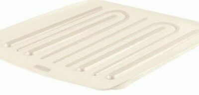 Rubbermaid 1180-MA-BISQU Microban Antimicrobial Drain Board, Small, Bisque