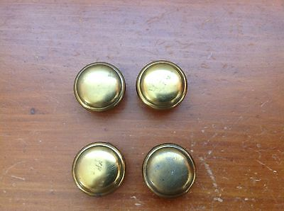 102A  VTG French Provincial Knobs Set Of 4 Brass Tone
