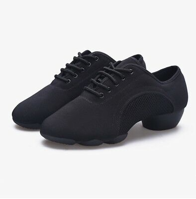 New Womens Oxford Cloth Jazz Dance Shoes Two-point Bottom Teacher Dance Sneakers