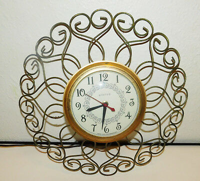 Vintage United Clock Co. Model 88 Art Deco Mid Century Electric Clock Works